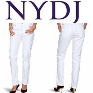 NYDJ Sherri Skinny Jeans in White Pants Size 6
